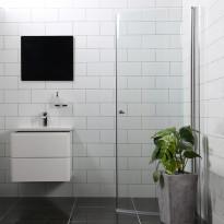 Suihkuovi Bathlife Mångsidig Vital 45°, 900x1900mm, H/P kirkas, Tammiston poistotuote