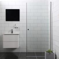 Suihkuovi Bathlife Mångsidig Vital, 800x1900mm, S/P, kirkas