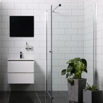Suihkunurkka Bathlife Mångsidig Vital, 900x900x1900mm, kulmikas kirkas, Tammiston poistotuote