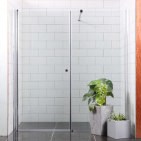 Suihkuseinä/ovi Bathlife Mångsidig Vital, 800+700x1900mm, suora kirkas