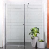 Suihkuseinä/ovi Bathlife Mångsidig Vital, 900+700x1900mm, suora kirkas