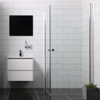 Suihkunurkka Bathlife Mångsidig Vital, 800x800x1900mm, kulmikas kirkas