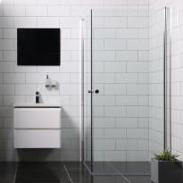 Suihkunurkka Bathlife Mångsidig Vital kaksi ovea,  900x900x1900mm, kulmikas kirkas
