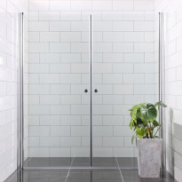 Suihkunurkka Bathlife Mångsidig Vital, 900x1000x1900mm, kirkas suora