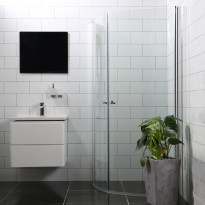 Suihkunurkka Bathlife Mångsidig Vital 45°, 800x1000x1900mm, pyöreä kirkas