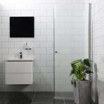 Suihkuovi Bathlife Mångsidig 900mm H/P kaareva himmeä, Tammiston poistotuote