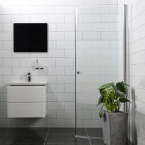 Suihkuovi Bathlife Mångsidig 800mm H/P kaareva osittain himmeä, Verkkokaupan poistotuote