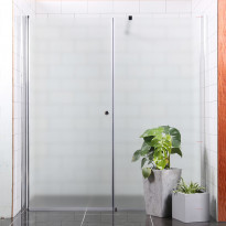 Suihkuseinä Bathlife Mångsidig Vital seinä 800mm himmeä + ovi 700mm himmeä, Verkkokaupan poistotuote