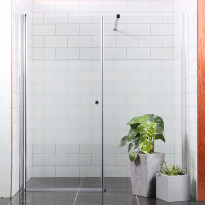 Suihkuseinä Bathlife Mångsidig Vital seinä 900mm kirkas + ovi 900mm osittain himmeä