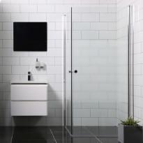 790728 - Suihkunurkka Bathlife Mångsidig Vital ovi 900mm + ovi 1000mm osittain himmeä
