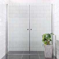 790738 - Suihkuseinä Bathlife Mångsidig Vital ovi 900mm + ovi 1000mm osittain himmeä