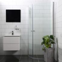 Suihkunurkka Bathlife Mångsidig Vital ovi 700mm + ovi 700mm kaareva osittain himmeä, Verkkokaupan poistotuote