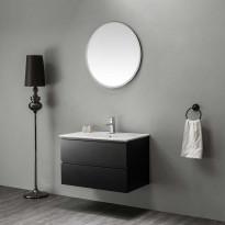 Kylpyhuoneryhmä peilillä Bathlife Eufori 800 musta