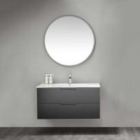 Kylpyhuoneryhmä peilillä Bathlife Glädje 1000 musta, Tammiston poistotuote