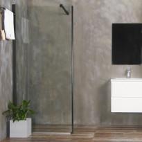 Suihkuseinä Bathlife Mångsidig 900mm, kirkas lasi, musta kehys, Verkkokaupan poistotuote
