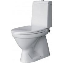 WC-istuin Bathlife Puts 67, S-lukko, kaksoishuuhtelu, valkoinen + kansi