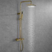Suihkusetti Bathlife Välla, yläsuihku + käsisuihku + termostaatti + ammehana, messinki
