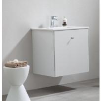 Allaskaappi pesualtaalla Bathlife Fröjd, 620x470x600cm, valkoinen, Verkkokaupan poistotuote