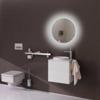 Valaisinpeili LED-valaisimella Bathlife Briljera 600, Ø60 cm, Verkkokaupan poistotuote