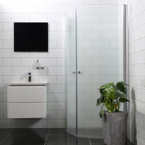 Suihkunurkka Bathlife Mångsidig Vital ovi + ovi kaareva, eri vaihtoehtoja