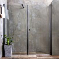 Suihkuseinä Bathlife Mångsidig, seinä + ovi, kirkas lasi, musta kehys, eri kokoja