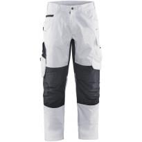 Maalarin housut Blåkläder 1095, stretch, valkoinen/tummanharmaa