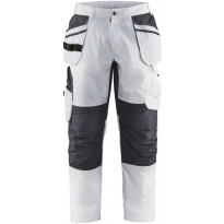 Maalarin riipputaskuhousut Blåkläder 1096, stretch, valkoinen/tummanharmaa