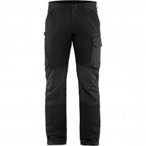Housut Blåkläder 1422 Stretch, musta/tummanharmaa