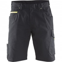 Shortsit Blåkläder 1499, musta/keltainen