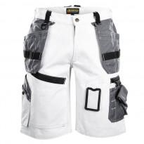 Maalarin shortsit X1500, valkoinen/harmaa
