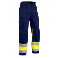Highvis housut, mariininsininen/keltainen