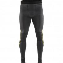Alushousut Blåkläder 1844 Xlight 100% merinovillaa, tummanharmaa/keltainen