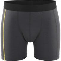 Bokserit Blåkläder 1847 Xlight 100% merinovillaa, tummanharmaa/keltainen