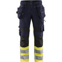 Riipputaskuhousut Blåkläder 1994 Highvis, sininen/huomiokeltainen