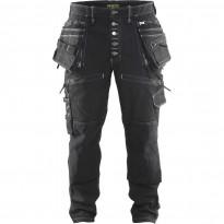 Riipputaskuhousut Blåkläder 1999 Stretch X1900, musta