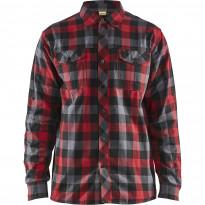 Flanellipaita Blåkläder 3299, punainen/musta