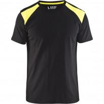 T-paita Blåkläder 3379, musta/keltainen