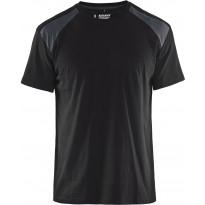 T-paita Blåkläder 3379, musta/tummanharmaa