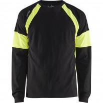 Pitkähihainen t-paita Blåkläder 3520, musta/keltainen