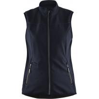 Naisten softshell-liivi Blåkläder 3851, tumma mariininsininen/musta