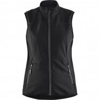 Naisten softshell-liivi Blåkläder 3851, musta/tummanharmaa