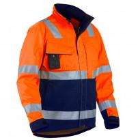 Highvis takki, oranssi/mariininsininen
