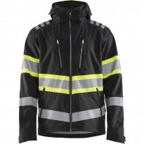 Softshell-takki Blåkläder 4494 Highvis, musta/huomiokeltainen
