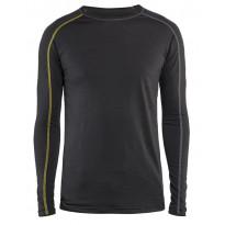 Aluspaita Blåkläder 4799 Xlight 100% merinovillaa, tummanharmaa/keltainen