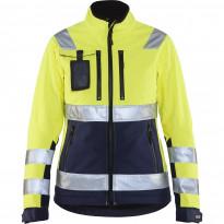 Naisten softshell-takki Blåkläder 4902 Highvis, huomiokeltainen/sininen