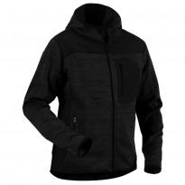Neulottu softshelltakki Blåkläder 4930, harmaa/musta