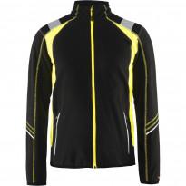Microfleecepusero Blåkläder 4993, musta/keltainen