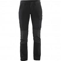 Naisten housut Blåkläder 7122 Stretch, musta/tummanharmaa