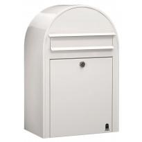 Postilaatikko Classic, 50x32x21cm, valkoinen RAL9016, kampanjatarjouksena nimikyltti kaupan päälle!