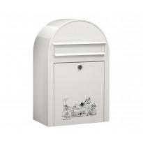 Postilaatikko Bobi Classic Muumit, 50x32x21 cm, valkoinen